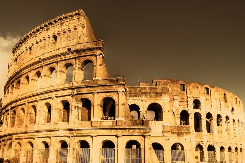 Preview wallpaper city, colosseum, ancient rome, ancient, fabulous view  3840x2160