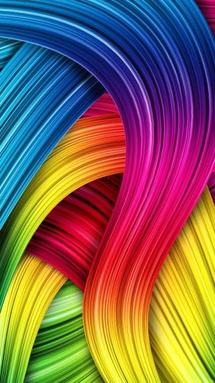 Wallpaper full hd 1080 x 1920 smartphone colorful fiber hairs