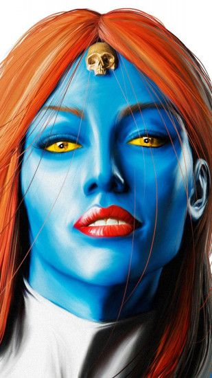1080x1920 Wallpaper mystique, marvel comics, art, woman, face