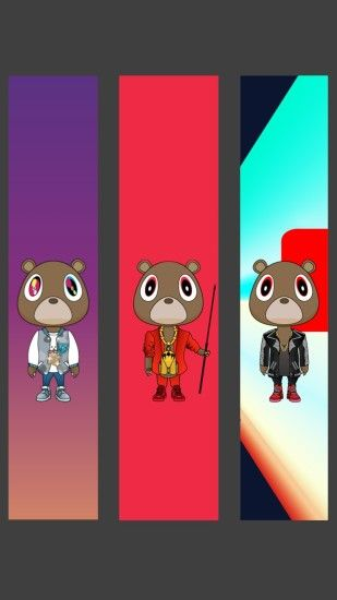 Modified I picture I saw on here into a phone wallpaper featuring my 3  favorite Yeezy albums.