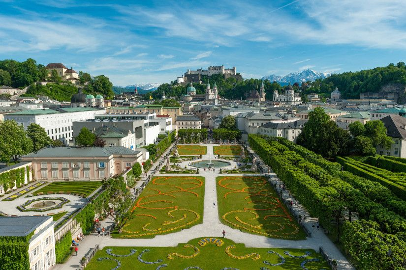 Mirabell Palace Austria wallpapers and stock photos