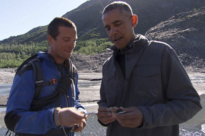 Bear Grylls has President Obama autograph a bottle opener on 'Running Wild'  - TODAY.com