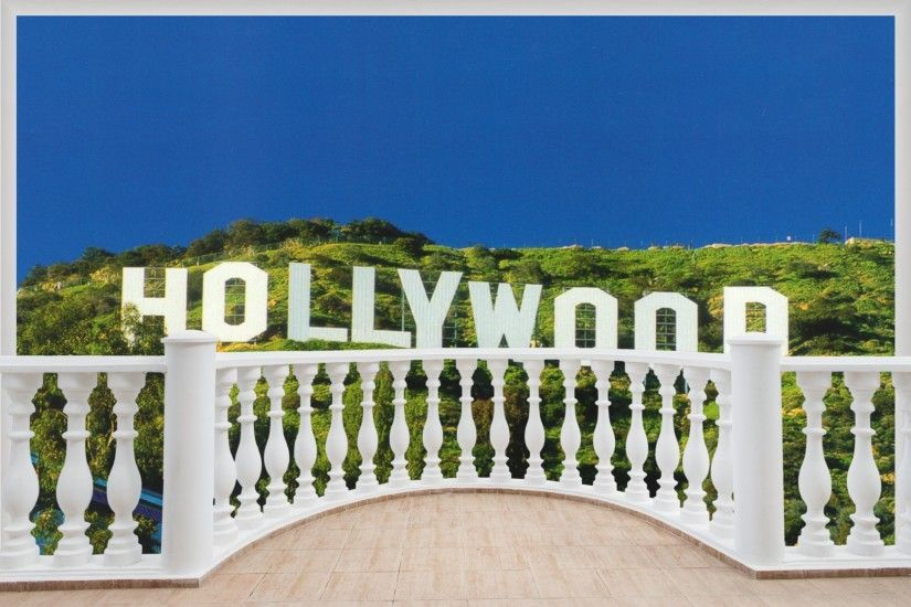 Details about Huge 3D Balcony Hollywood Sign Wall Stickers Film Decal  Wallpaper 387