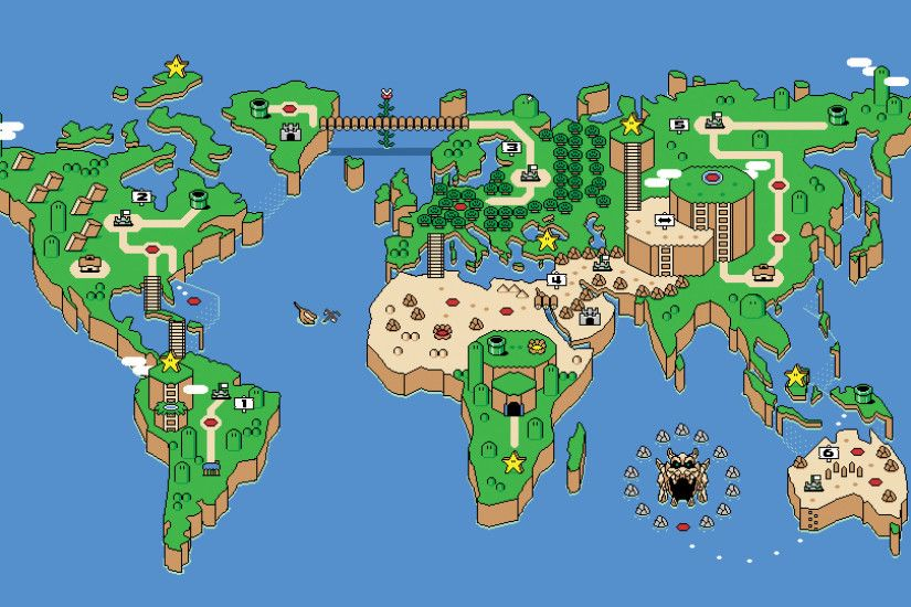 Earth - Super Mario Wallpaper #