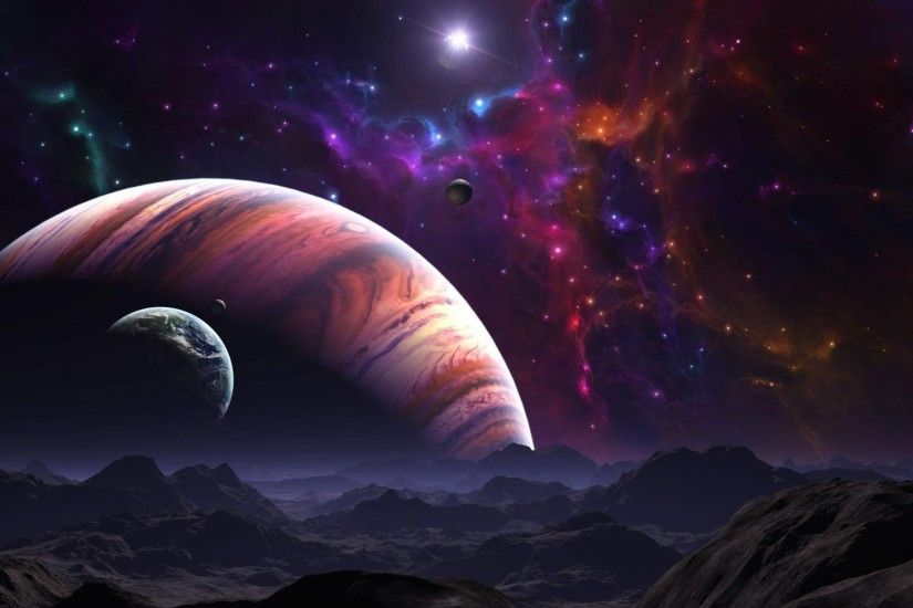 Space planet galaxy planets star stars univers wallpaper | 2560x1440 .