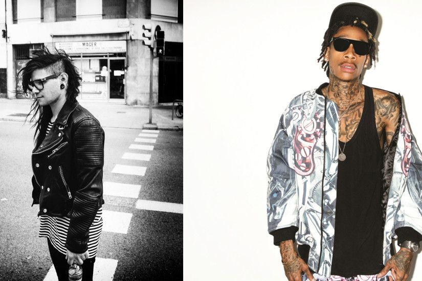 Skrillex (left) and Wiz Khalifa (right) will be joined by Chromeo and