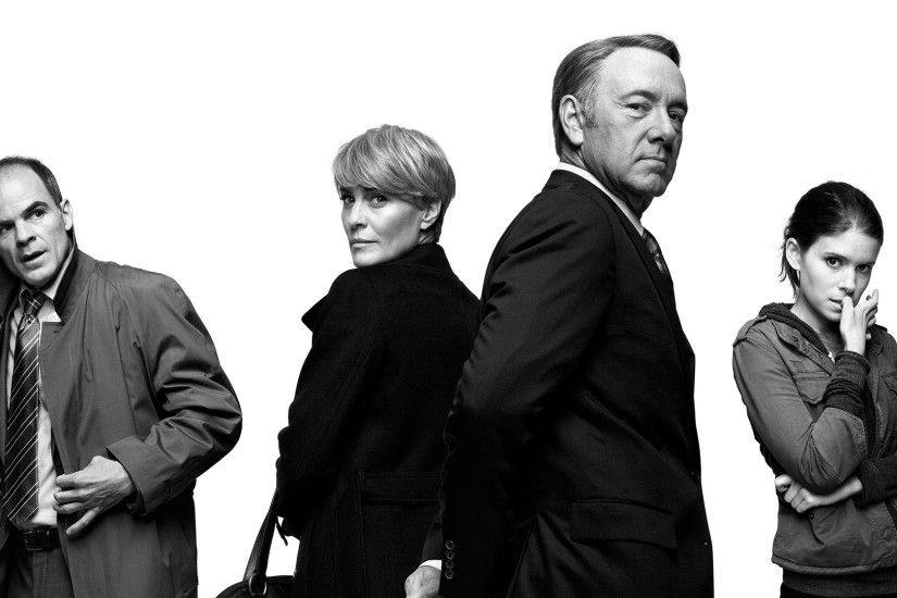House Of Cards, Kevin Spacey, Actor, Monochrome, Kate Mara, Robin Wright,  Michael Kelly Wallpapers HD / Desktop and Mobile Backgrounds