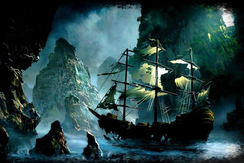 Wallpapers For > Pirate Ghost Ship Wallpaper