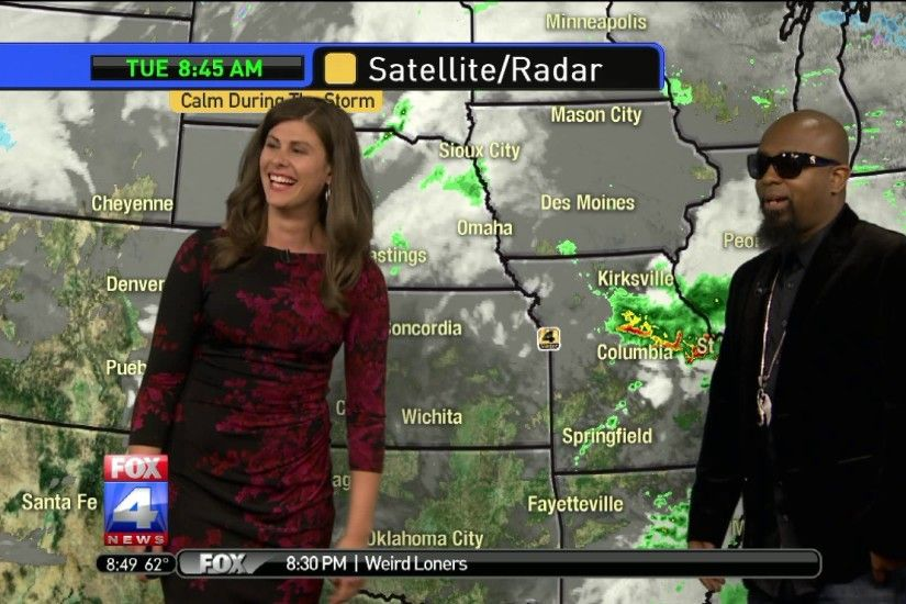 Tech N9ne helped FOX 4's Michelle Bogowith with the weather.