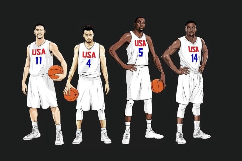 Made wallpaper for GSW'S Big 4 on Team USA ...