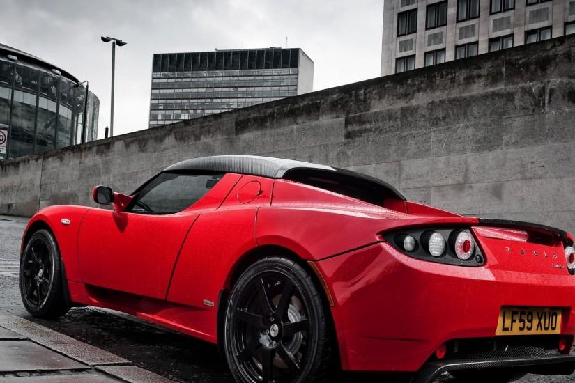 3840x2160 Wallpaper tesla motors, tesla, uk-spec, roadster
