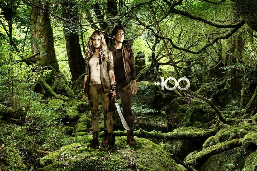... clarke and bellamy the 100 promo poster 1920x1200 full hd 16 ...