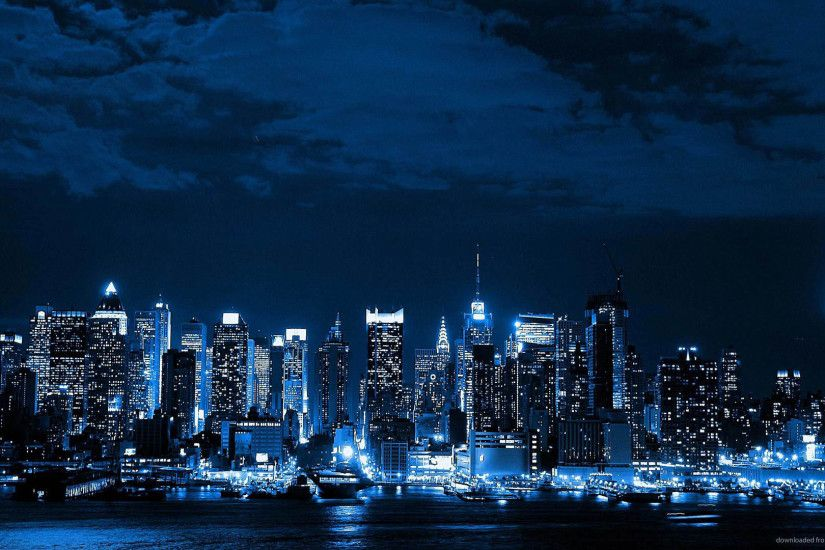 hd pics photos blue neon city desktop background wallpaper