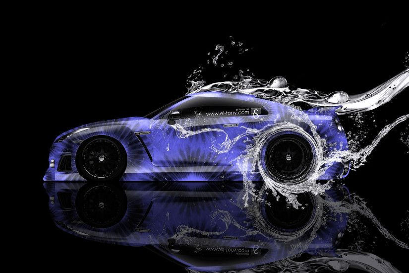... Nissan-GTR-R35-Water-Kiwi-Car-2014-Blue- ...