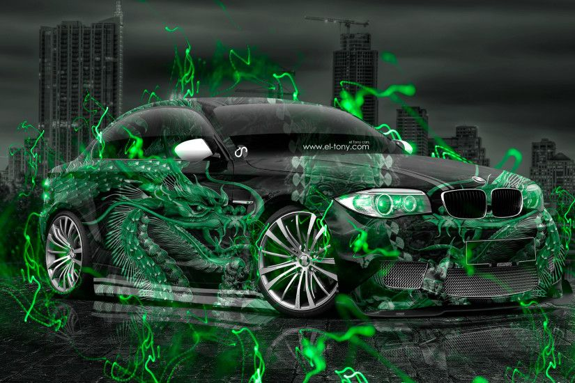 BMW-M1-Tuning-3D-Dragon-Aerography-City-Night-