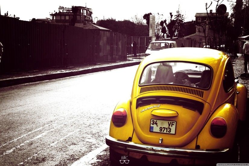 Volkswagen Beetle Yellow HD Wide Wallpaper for 4K UHD Widescreen desktop &  smartphone