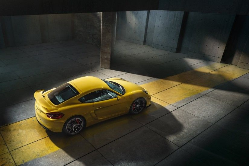 car, Porsche, Porsche Cayman, Porsche Cayman GT4, Yellow Wallpapers HD /  Desktop and Mobile Backgrounds