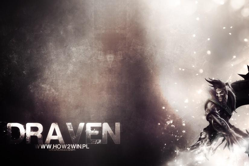 Draven wallpaper Black and White