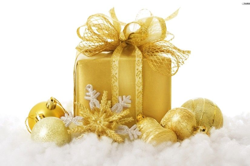 Birthday Presents | YouWall - Golden Christmas Gift Wallpaper - wallpaper, wallpapers,free .