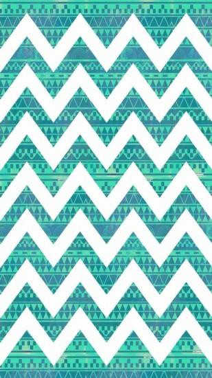 Tribal Print Turquoise Blue Chevron iPhone 6 Plus Wallpaper - Zigzag Print  Pattern