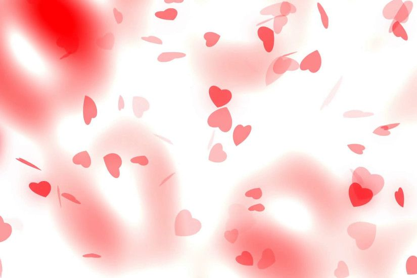 Valentine's day and wedding abstract background,flying red hearts and  particles. Symbols of love