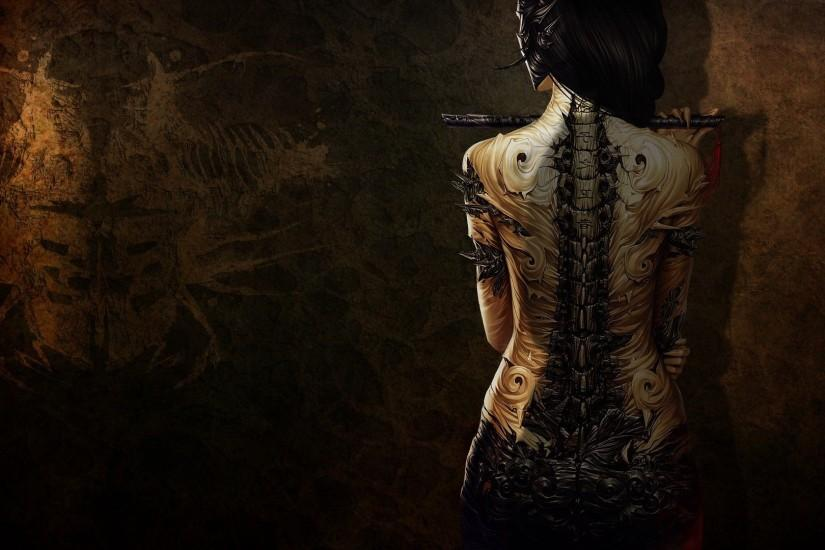 3D Girl With Tattoo Wallpaper | HD 3D and Abstract Wallpaper Free Download  ...