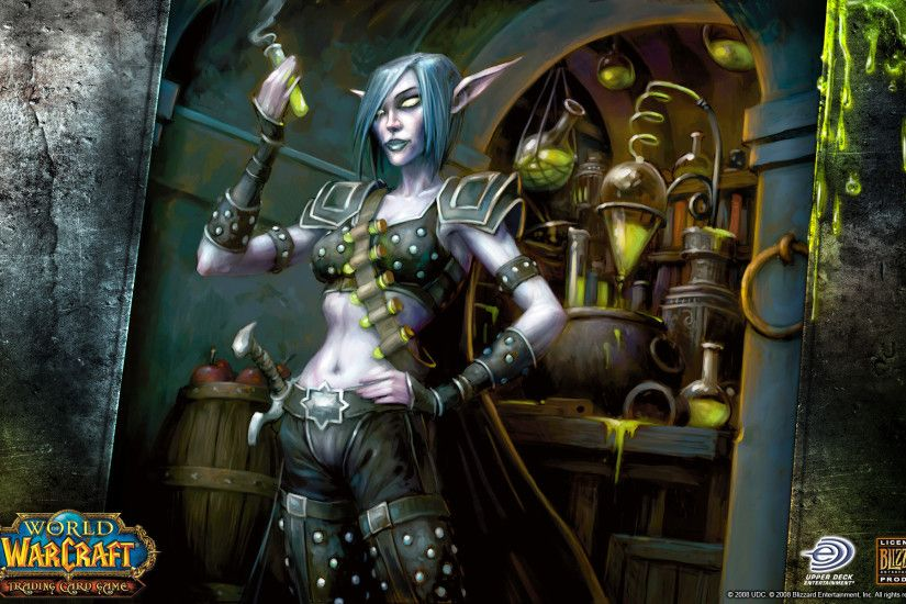 Video Game - World Of Warcraft Night Elf Alchemy Wallpaper