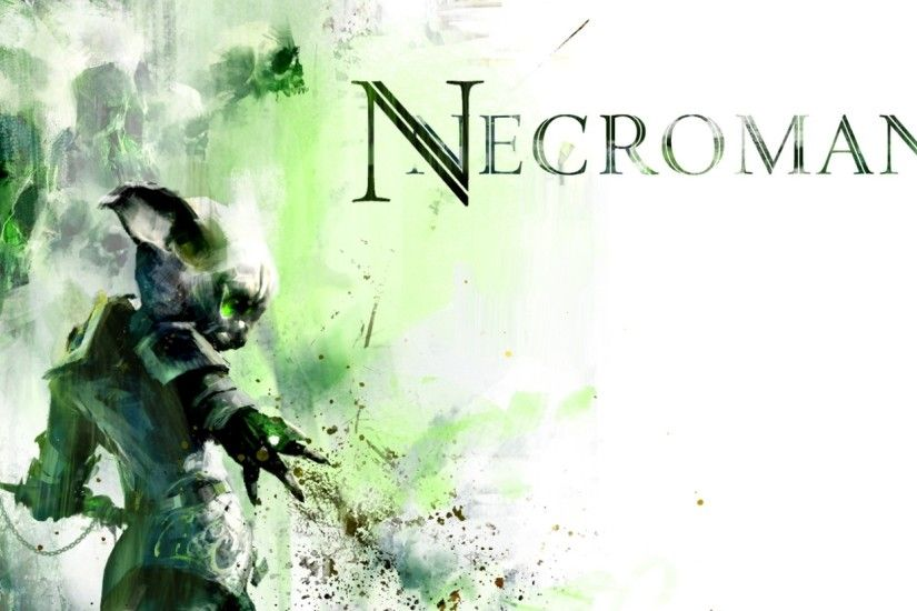 Preview wallpaper guild wars 2, necromancer, graphics, name 2560x1080