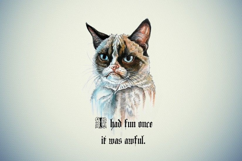 #Grumpy Cat, #quotes | Wallpaper No. 9408 - wallhaven.cc