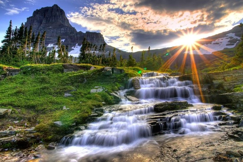 Small Waterfall HDR Wallpaper High Dynamic Range Nature Wallpapers