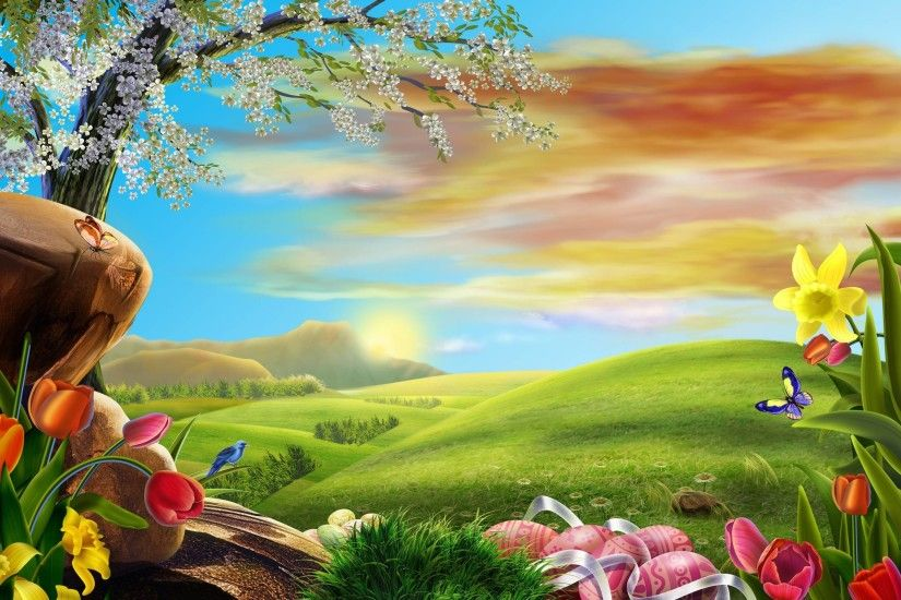 2014 Easter Holiday Desktop Background Wide or HD | Flowers Wallpapers