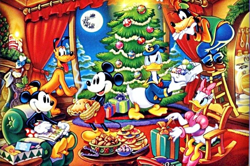 Walt Disney Wallpaper of Pluto Pup, Minnie Mouse, Mickey Mouse, Donald  Duck, Goofy Goof and Daisy Duck. HD Wallpaper and background photos of Walt  Disney ...