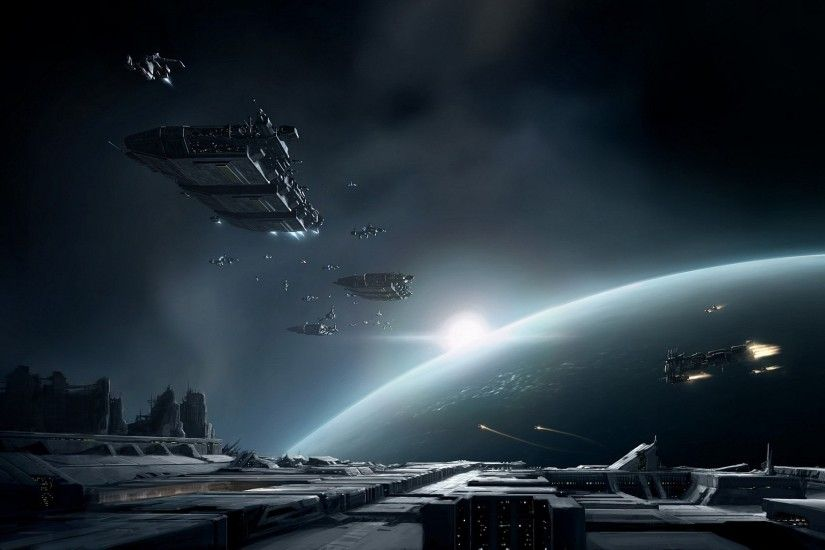 Sci Fi Spaceship Planet Ship Eve Online Sci Fi Space Wallpaper