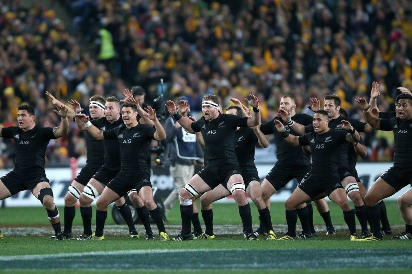 The All Blacks perform the haka before the start of the 2015 Rugby World  Cup Pool