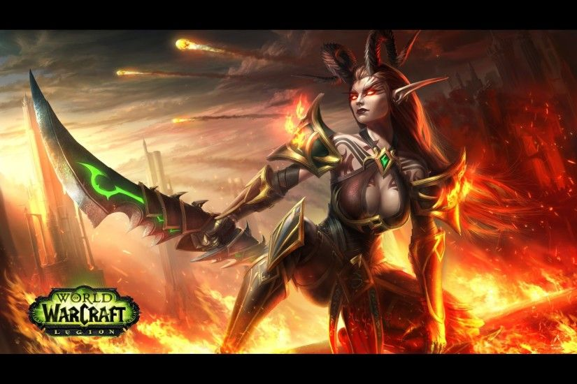 Demon Hunter Blood Elf – Standard Wallpaper