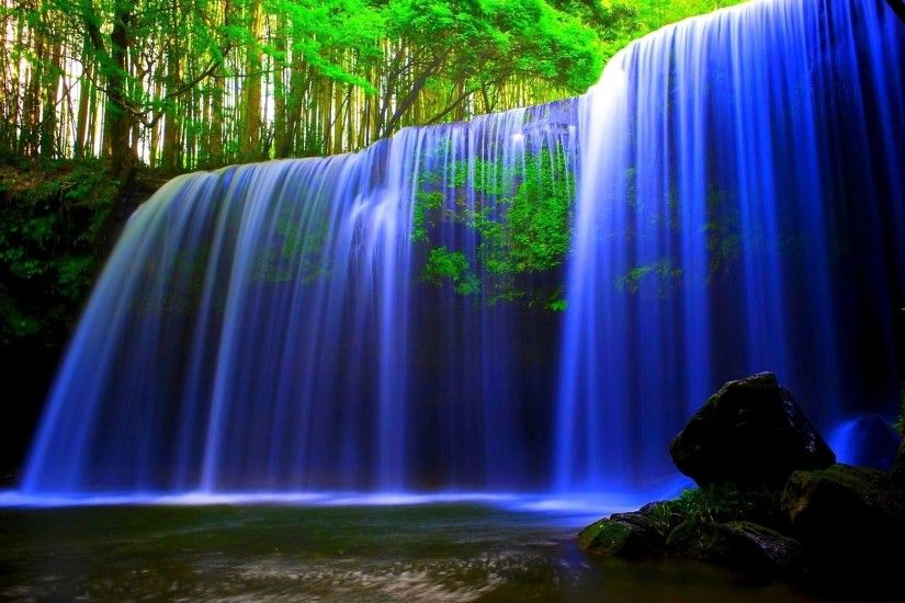 Forest Waterfall Wallpaper 8091