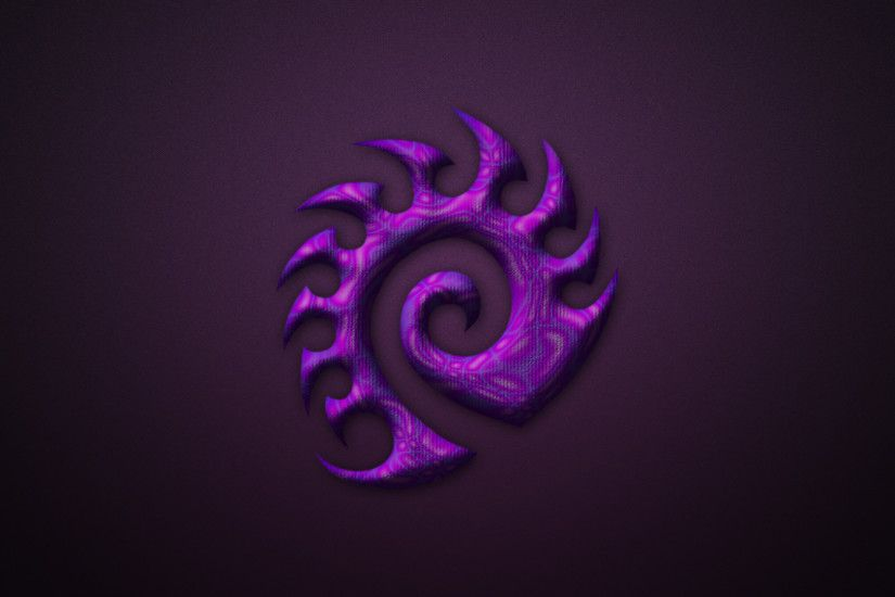 Purple Zerg logo from the game Starcraft II
