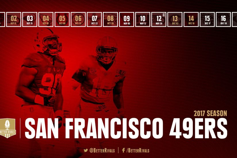 49ers schedule wallpapers for iPhone, Android, desktop