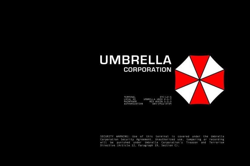 Resident Evil Umbrella Corp Logos Black Background 1440x900 Wallpaper