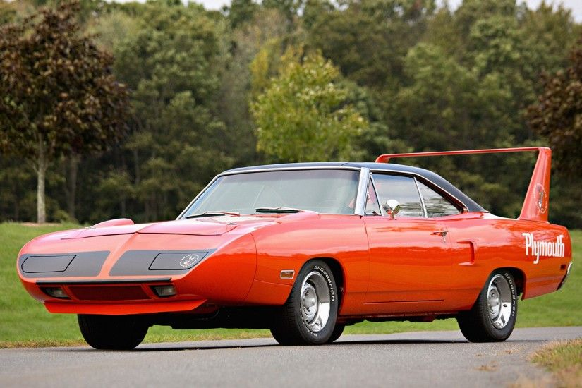 Preview wallpaper plymouth, road runner, superbird, muscle car, red  3840x2160