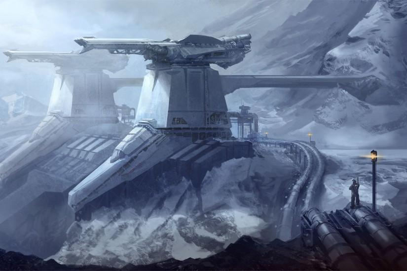 Fantasy - Landscape Outpost Reach Halo Wallpaper