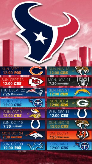nfl 2016 houston texans iphone and android schedule background ...