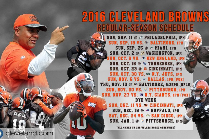 Download Cleveland Browns 2016 schedule wallpaper for .