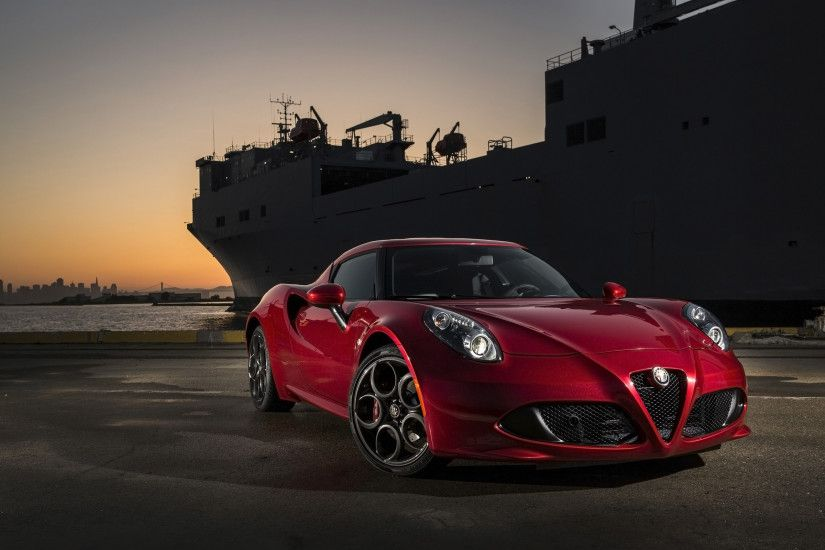 2015 Alfa Romeo 4C Red Wallpaper HD Car Wallpapers