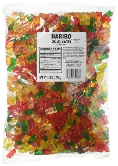 Haribo Original Gold-Bears Gummi Candy, 5-Pound Bag of Delicious Bears!