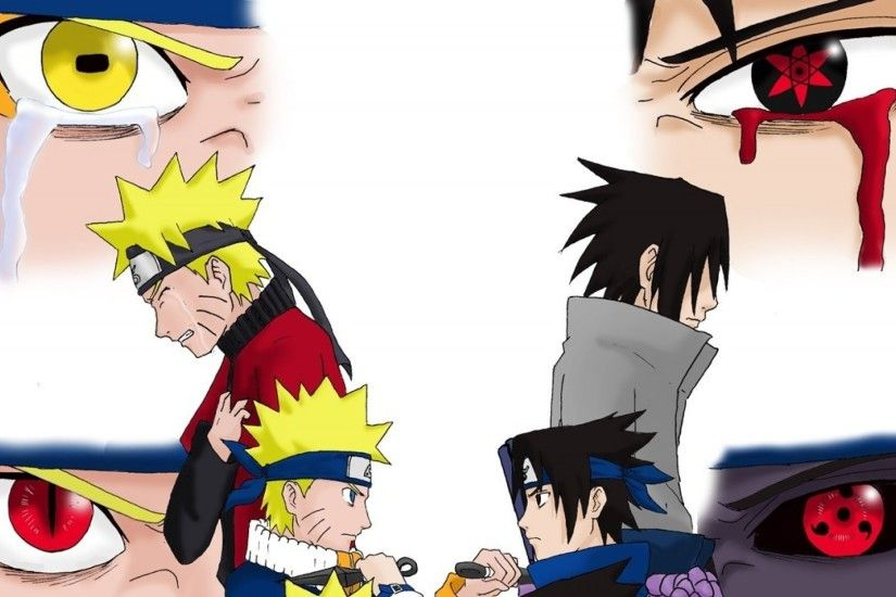 Naruto and Sasuke eyes, Naruto and Sasuke eyes and tears