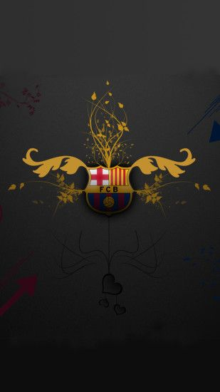 File attachment for Artistic FC Barcelona Logo of Apple iPhone 6s Plus  Wallpaper