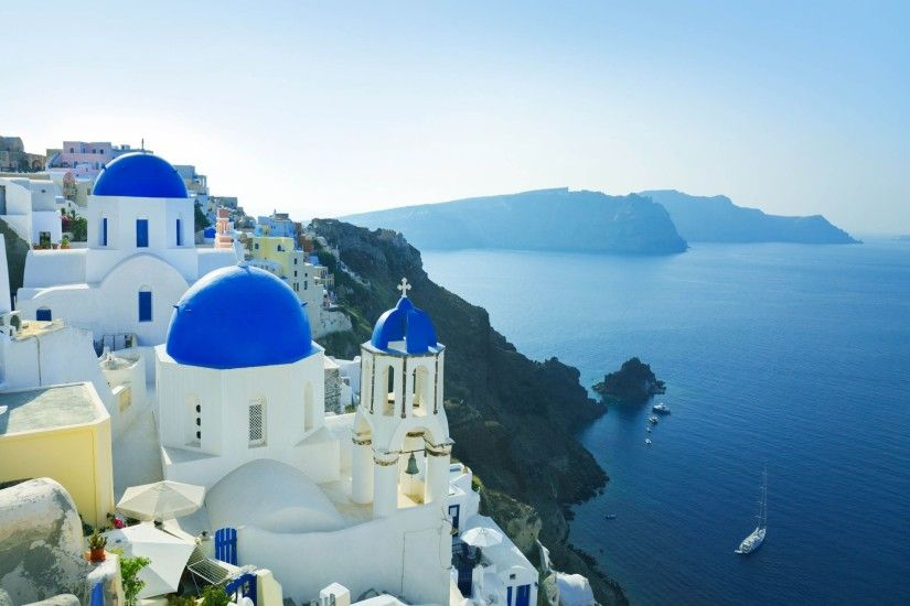... 2560×1920. Colorful Chairs Santorini Wallpapers. Colorful Chairs Santorini  Wallpapers
