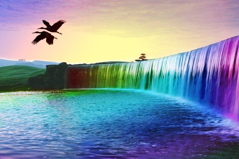 Waterfall And Rainbow Wallpaper Mobile. Waterfall And Rainbow image