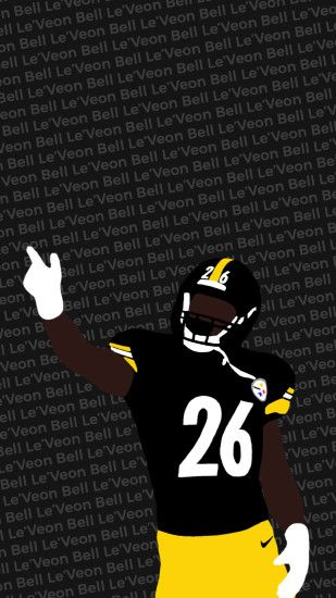I made another wallpaper, this one with Le'Veon Bell ...